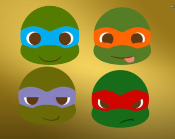 Ninja Turtles clipart yellow And Clipart turtle Svg face