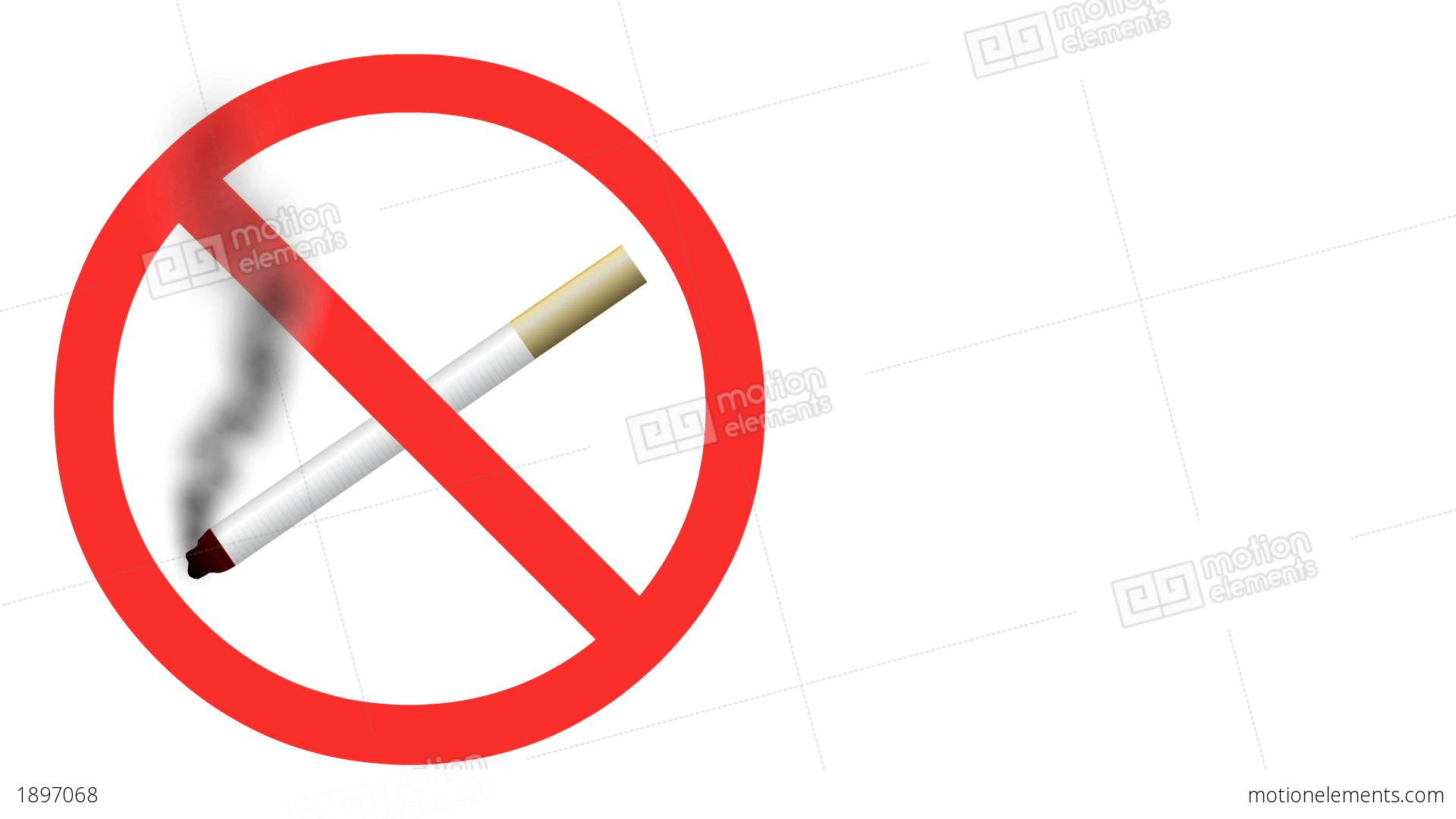 No Smoking clipart animated No Animated Loopable moving Stock