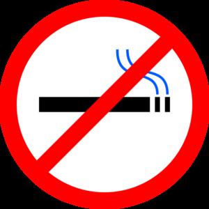 No Smoking clipart anti smoking  vector art No clip