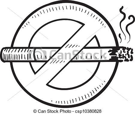 No Smoking clipart black and white Smoking no Vector No smoking