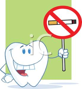 No Smoking clipart caricature Sign Royalty A Tooth Holding