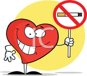 No Smoking clipart caricature Smoking Sign A a Heart