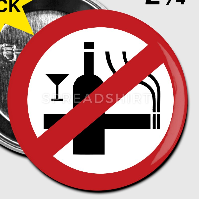 Smoking clipart alcohol Buttons NO Smoking Alcohol NO