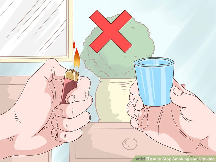 No Smoking clipart cigarettes and alcohol WikiHow How Drinking to Drinking