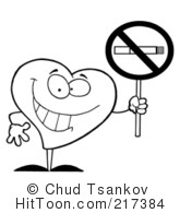 No Smoking clipart heart Clipart No  a Outlined