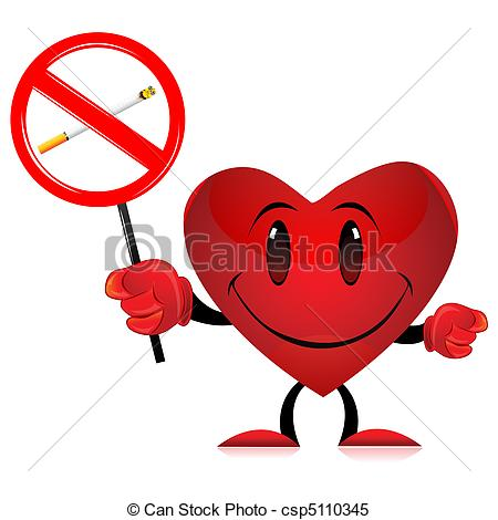 No Smoking clipart heart Devil heart with Vector tag