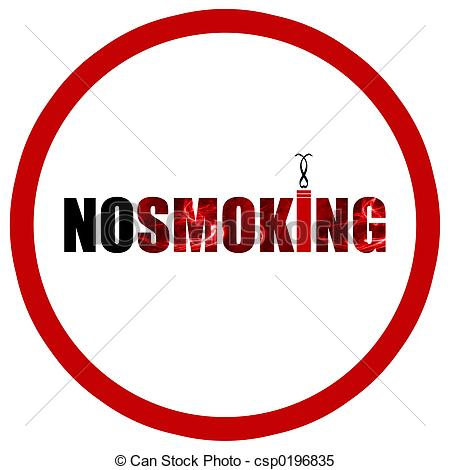 No Smoking clipart caricature Sign A No Illustrations cool