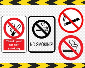 No Smoking clipart non Cricut Printable sign Dxf smoking