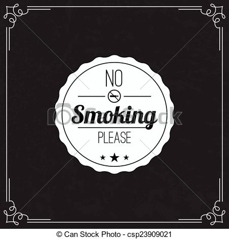 No Smoking clipart please Smoking with No symbol label