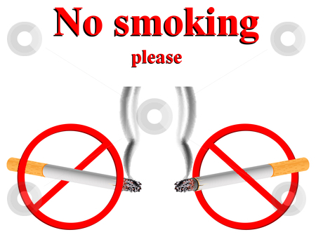 No Smoking clipart please Stock vector signs stylized signs