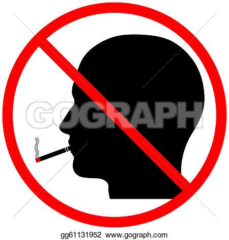 No Smoking clipart someone Stock Silhouette Clip  No