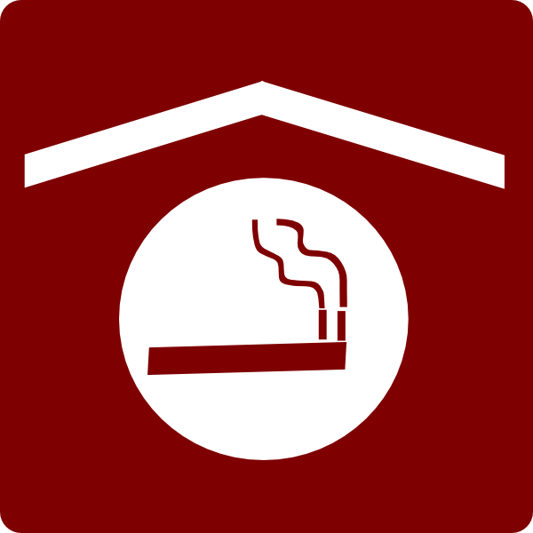 Smoking clipart exhaust smoke Red/white Art at Area