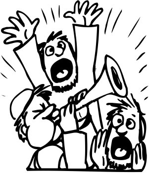 """Noise clipart cartoon While """"nothing"""" I hear in"""