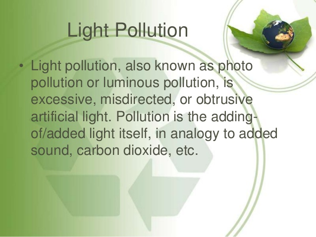 Noise clipart light pollution Causes Light Pollution by its