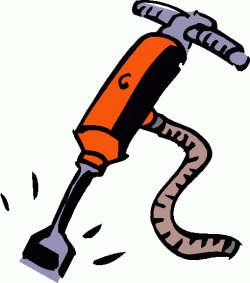 Noise clipart loud sound object Vocabulary – jackhammer English Construction