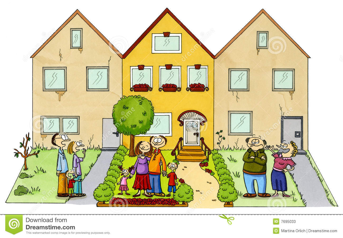 Community clipart neighborhood Happy cliparts Neighbors Neighbors Clipart