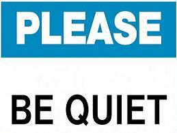 Noise clipart quiet please Be be quiet Clipart Please