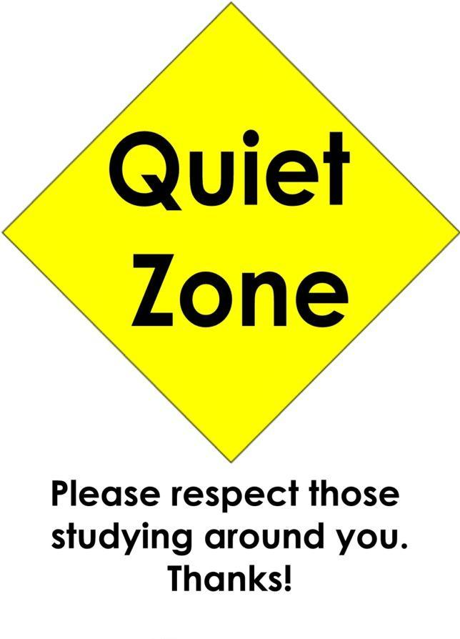 Noise clipart quiet zone Indy Silence Shhh…The On in
