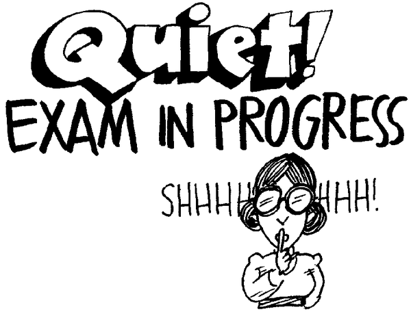Noise clipart quite Twitter: leaving next your exams
