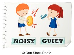 Noise clipart quite Noisy 603 Opposite illustration and