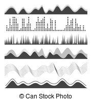 Noise clipart rhythm Sound Abstract Various Vector Digital