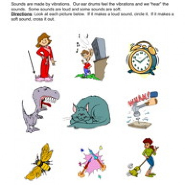 Noise clipart science sound Hear Can Fun Sound Worksheets
