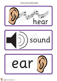 Noise clipart science sound Posters and Posters EYFS Classroom