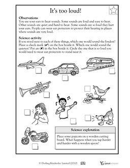 Noise clipart science sound First sound about worksheets and