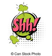 Noise clipart shhhh Sound and illustration word Comic