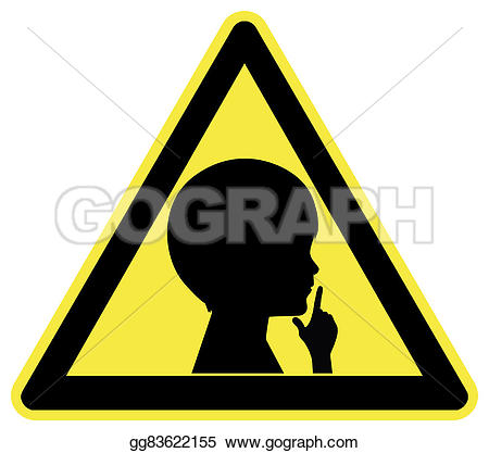 Noise clipart silent Gg83622155 Stock Stock sign who