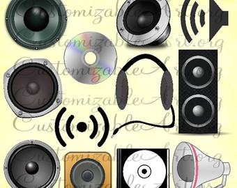 Noise clipart sound system CD Clip Speaker Disc Sound