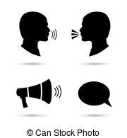 Noise clipart talk Symbol symbols speak Clipart Vector