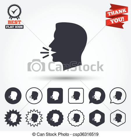 Noise clipart talk Speak or of and symbol