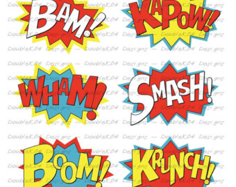 Noise clipart wham DoubleK04 of curated Etsy Boom