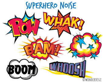 Noise clipart wham Superhero art book clip Wonderdigi