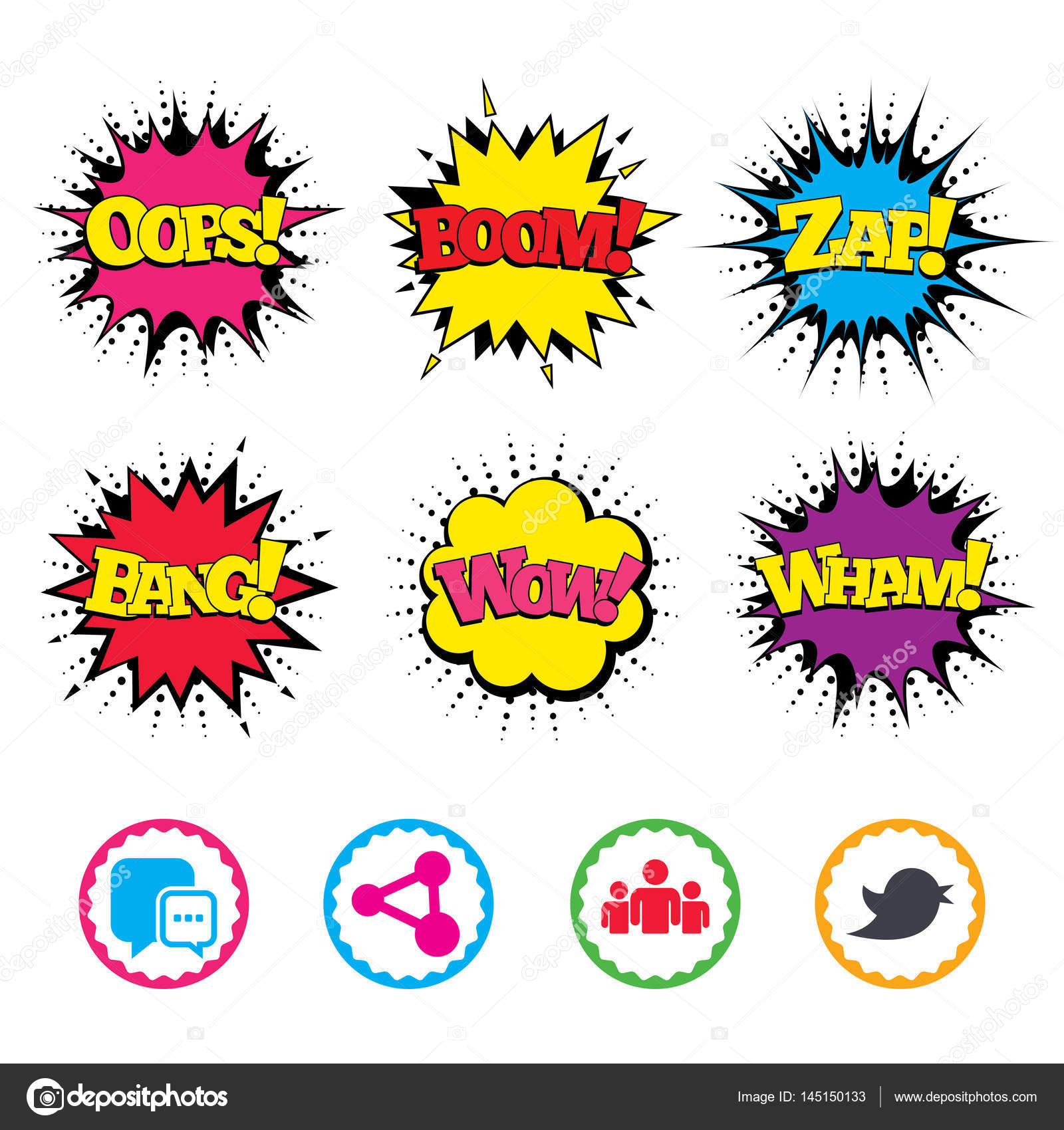 Noise clipart wham Icons effects Vector sound Comic