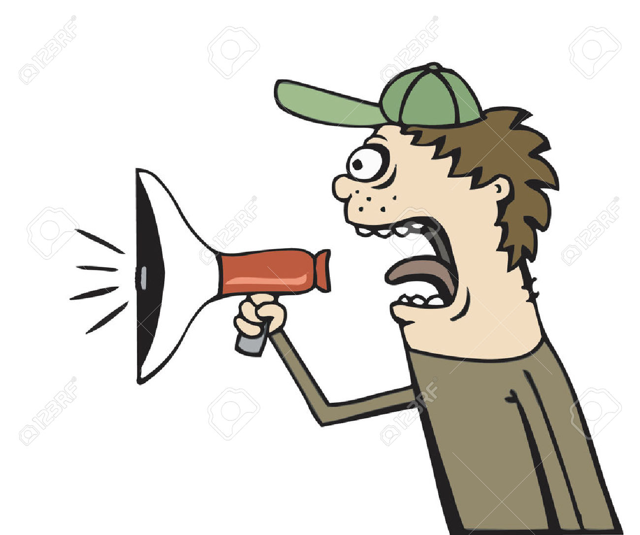 Noise clipart yelling Man man  Collection cartoon