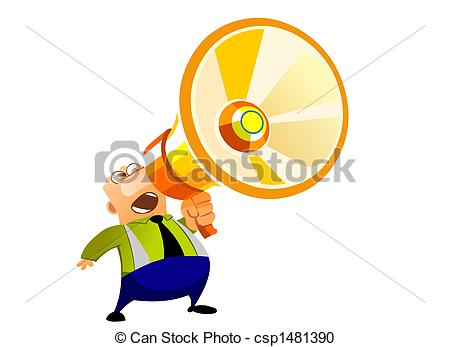Noise clipart yelling Businessman Illustrations and 053 a