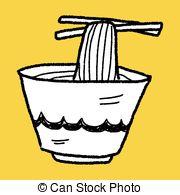 Noodle clipart Doodle Noodle clip EPS 712
