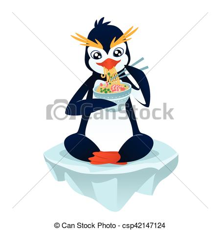 Noodle clipart cute Vector Illustration a dish of