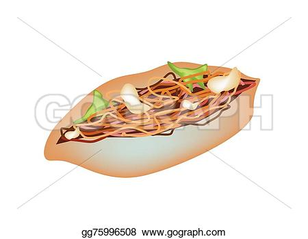 Noodle clipart delicious food Background Japanese yakisoba on with