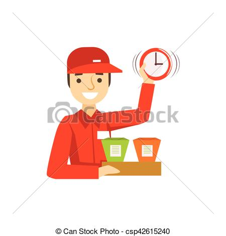 Noodle clipart packed To of Delivery Vector Packed