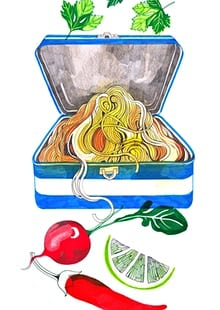 Noodle clipart packed And lunch The for with