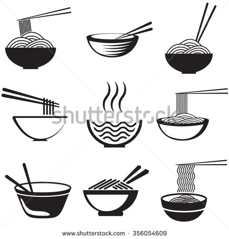 Noodle clipart packed Set in different spaghetti dishes