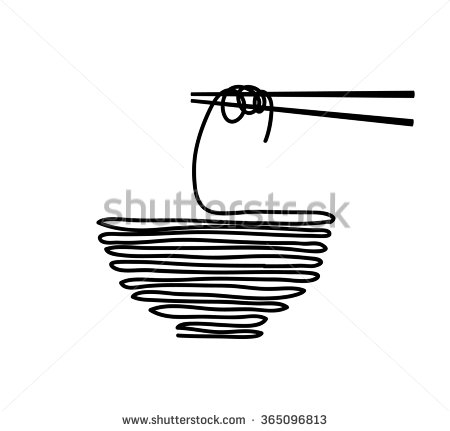 Noodle clipart single Noodle and food  Vector