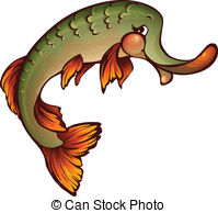Northern Pike clipart cartoon #1