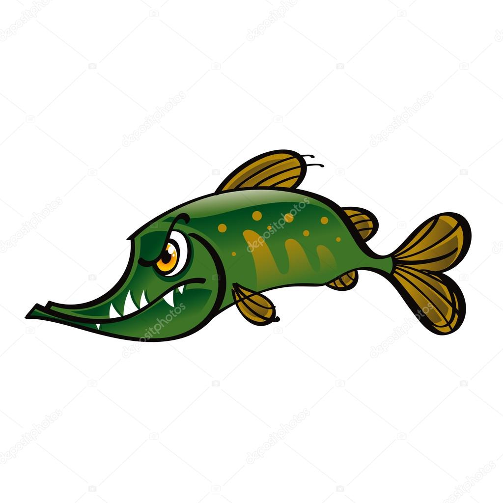 Northern Pike clipart cartoon #2