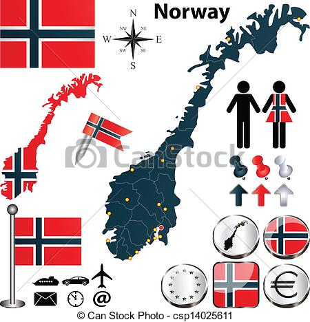 Norway clipart Art Vector Norway 053 of