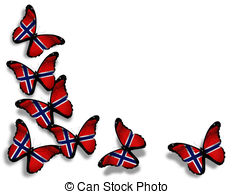 Norway clipart 6 Stock white EPS flag