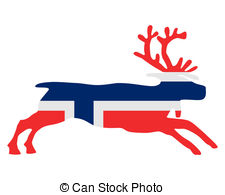 Norway clipart EPS and reindeer Illustrations Clip